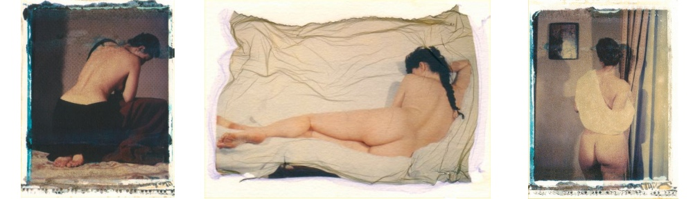 polaroid nudo modella
