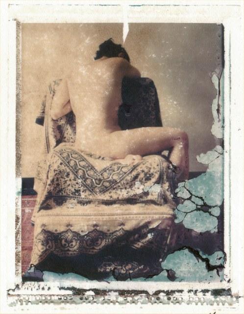 Nude on Chair - Polaroid by Frank Morris