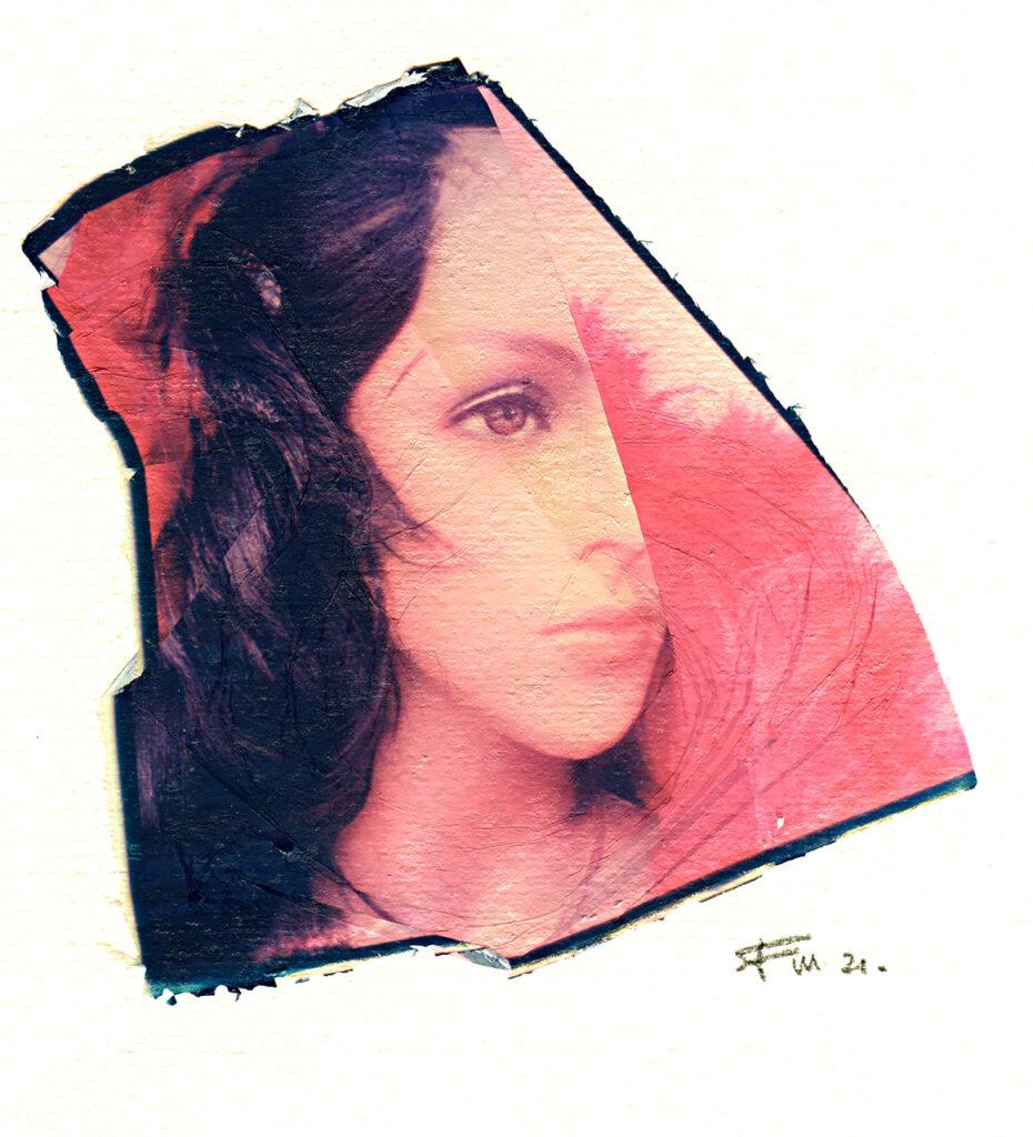 ritratto polaroid di manichino